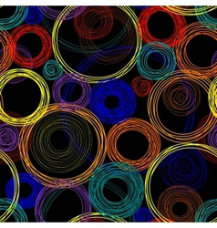 Seamless abstract pattern with colored circles vector image