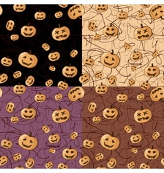 Seamless Halloween pattern background vector