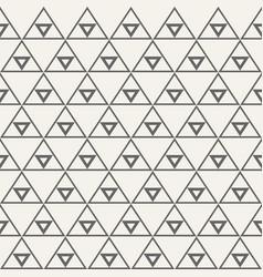 seamless monochrome triangular ethnic pattern vector image