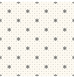 seamless winter retro pattern vector image