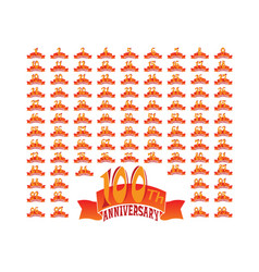 Set anniversary badges celebrating banners vector