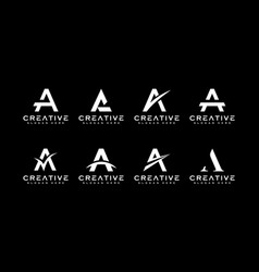 set of initial letter a logo design template vector image
