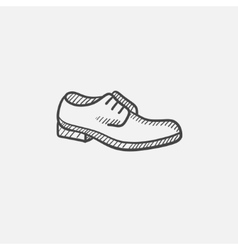 Shoe with shoelaces sketch icon vector image