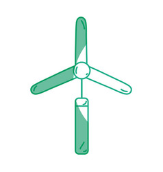 Silhouette industry windpower generator to ecology vector