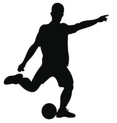 Silhouette of a football player on the field vector image