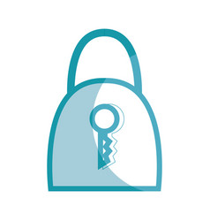 Silhouette padlock security tool service vector