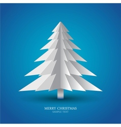 simple christmas tree made from pieces paper vector image