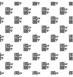 smart door lock pattern seamless vector image