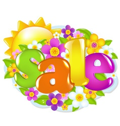 Spring sale sign vector