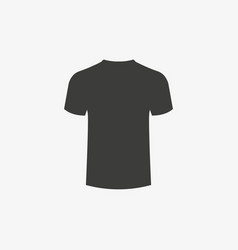 t-shirt icon on white background clothes vector image