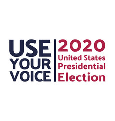 The 2020 united states presidential election vector