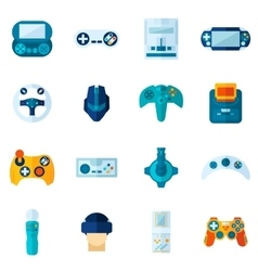 Video Game Flat Icons Set vector image