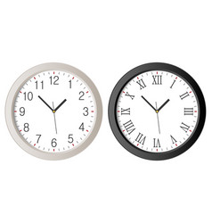 wall clock set vector image