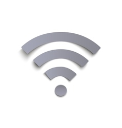 Wi-fi icon isolated on white background vector