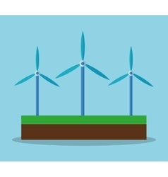 Wind mill and ecology concept design vector