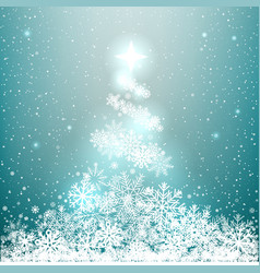 winter glowing spruce from snow vector image