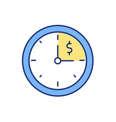 Working hours rgb color icon vector