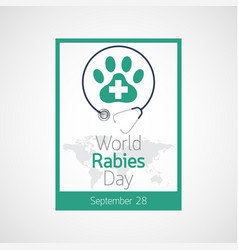 World rabies day icon vector