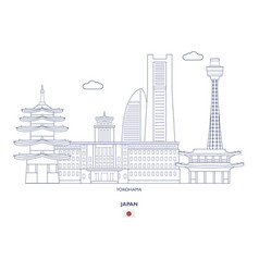 Yokohama city skyline vector