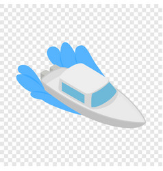 boat on waves isometric icon vector image