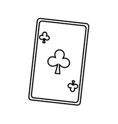 Playing ace card poker icon casino betting vector