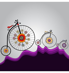ride of happiness around the world vector image