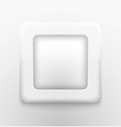 Square white button vector image