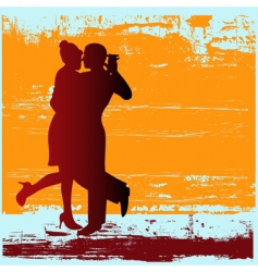 tango grunge vector image vector image