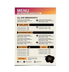 Cafe menu restaurant template design vector image vector image