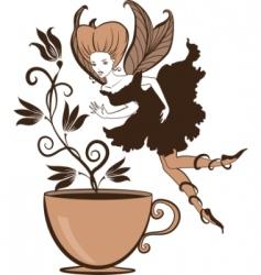 coffee fairy vector image
