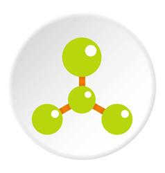 green molecule structure dna icon circle vector image vector image
