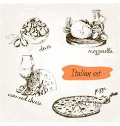 Italian set vector image