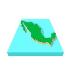 Mexico map icon cartoon style vector image vector image
