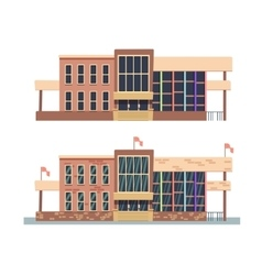 School building on white background vector image vector image