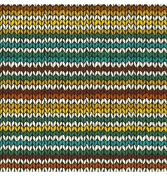 Seamless pattern with hand drawn knitted stripes vector image vector image