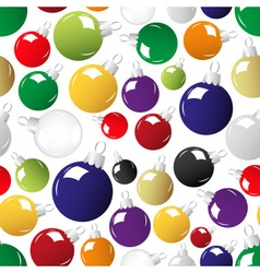 shiny color christmas decoration seamless pattern vector image