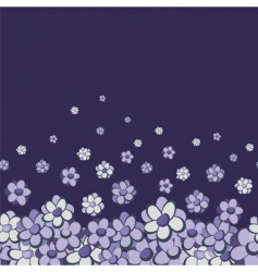 vintage floral seamless border vector image