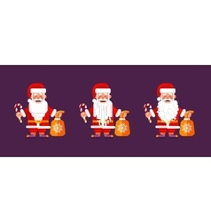 Character of Santa Claus in a flat style vector image