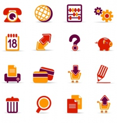 icons for web pages vector image vector image