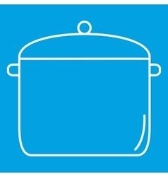 Pan thin line icon vector image