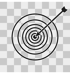 Successful shoot Darts target aim icon vector image