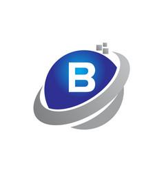 Technology motion synergy letter b vector