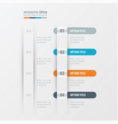 Timeline design orange blue gray color vector