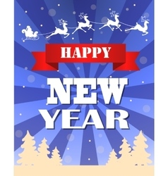 Vintage New year card design vector image