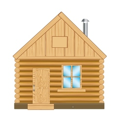 Wooden house vector image