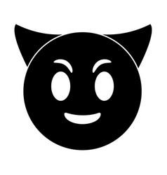 devil emoticon funny pictogram vector image vector image