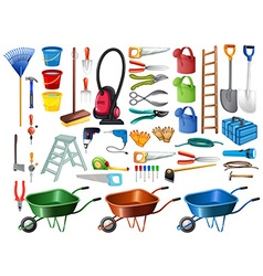 Different household tools and equipments vector