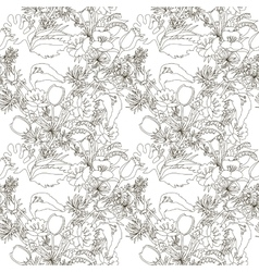 Floral seamless pattern with wildflowers vector image vector image