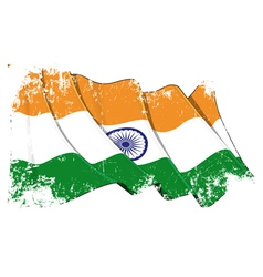 India Flag Grunge vector image vector image