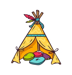 Indian wigwam for kids room isolated on white vector image
